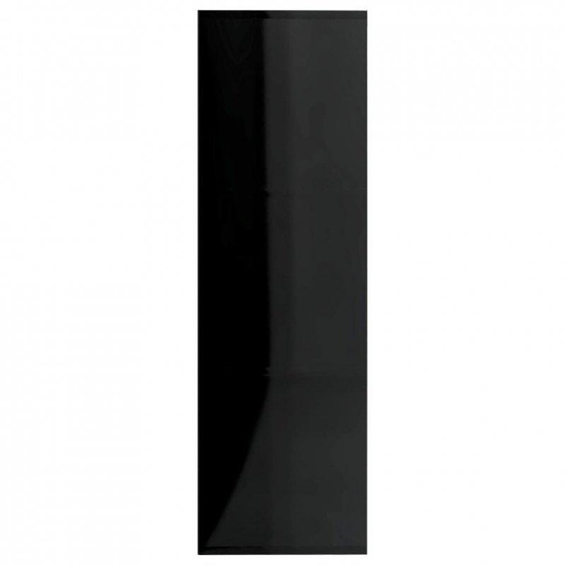 Regał, czarny na wysoki połysk, 98x30x98 cm, płyta wiórowa