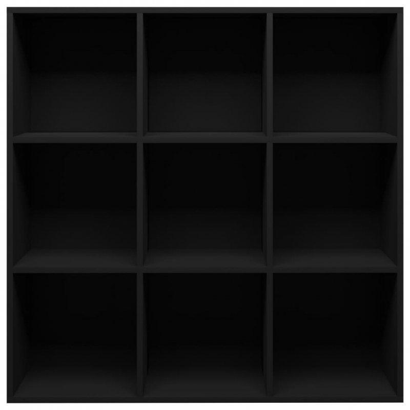 Regał na książki, czarny, 98 x 30 x 98 cm, płyta wiórowa