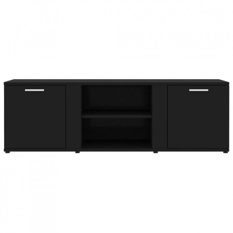Szafka pod TV, czarna, 120x34x37cm, płyta wiórowa