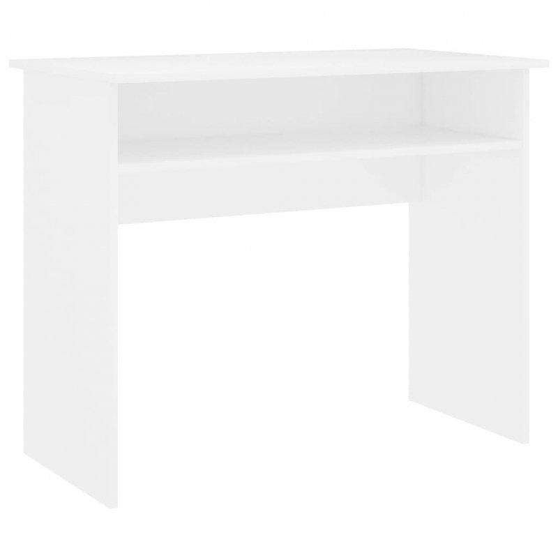 Biurko, białe, 90x50x74 cm, płyta wiórowa