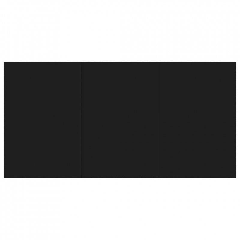 Stół jadalniany, czarny, 160 x 80 x 76 cm, płyta wiórowa