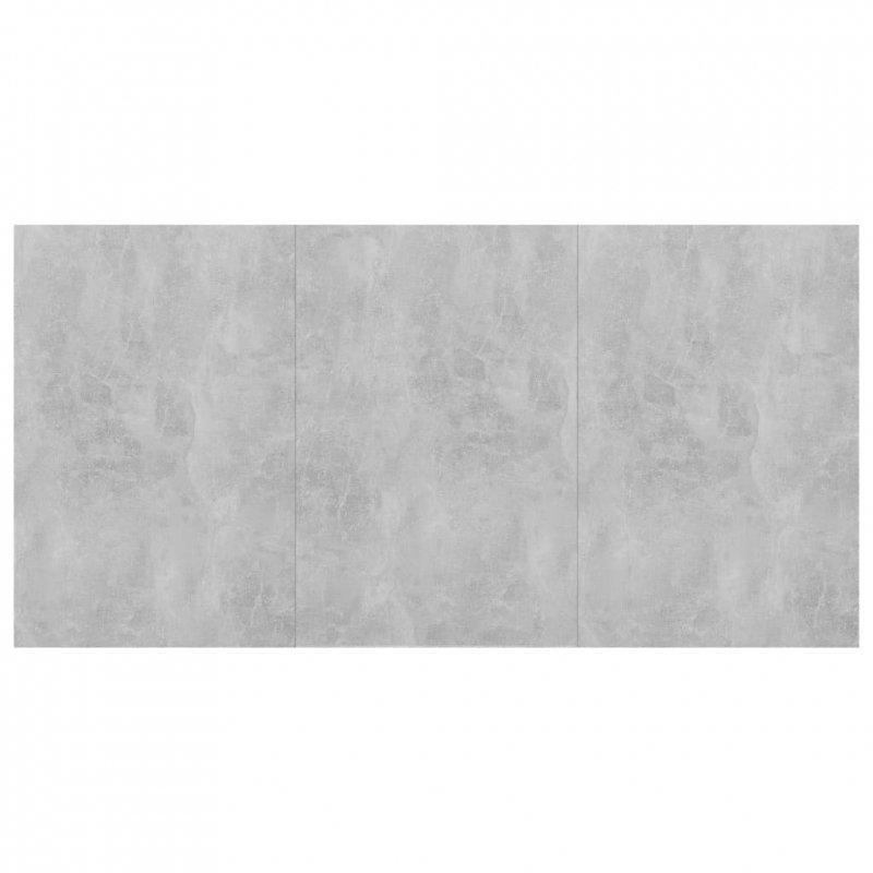 Stół jadalniany, betonowy szary, 180x90x76 cm, płyta wiórowa