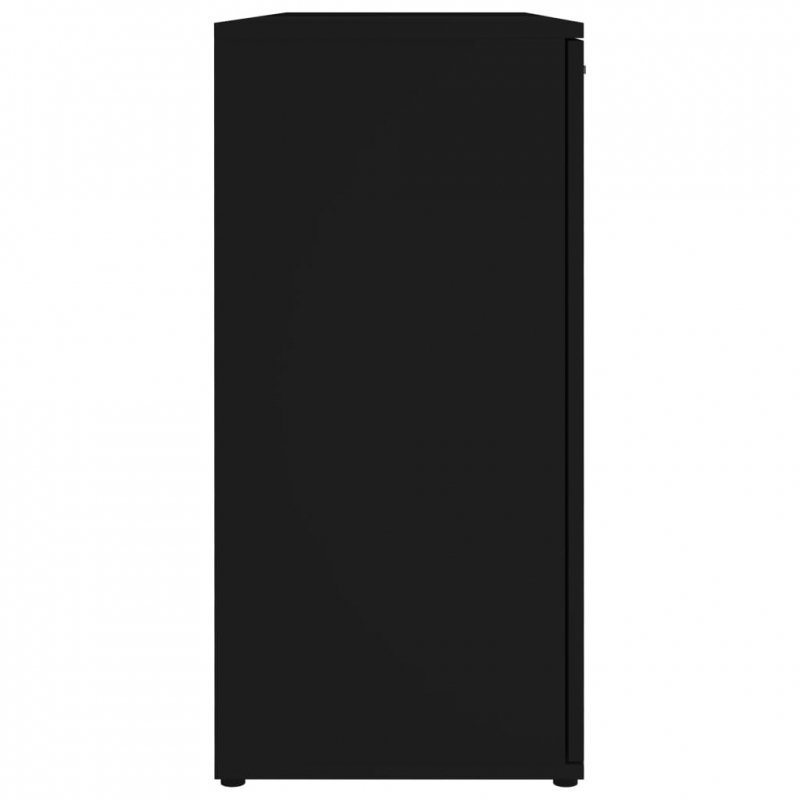 Komoda, czarna, 120x35,5x75 cm, płyta wiórowa