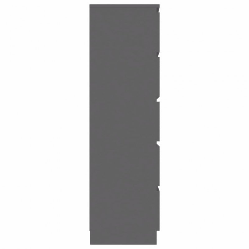 Komoda, szara, 60x35x121 cm, płyta wiórowa
