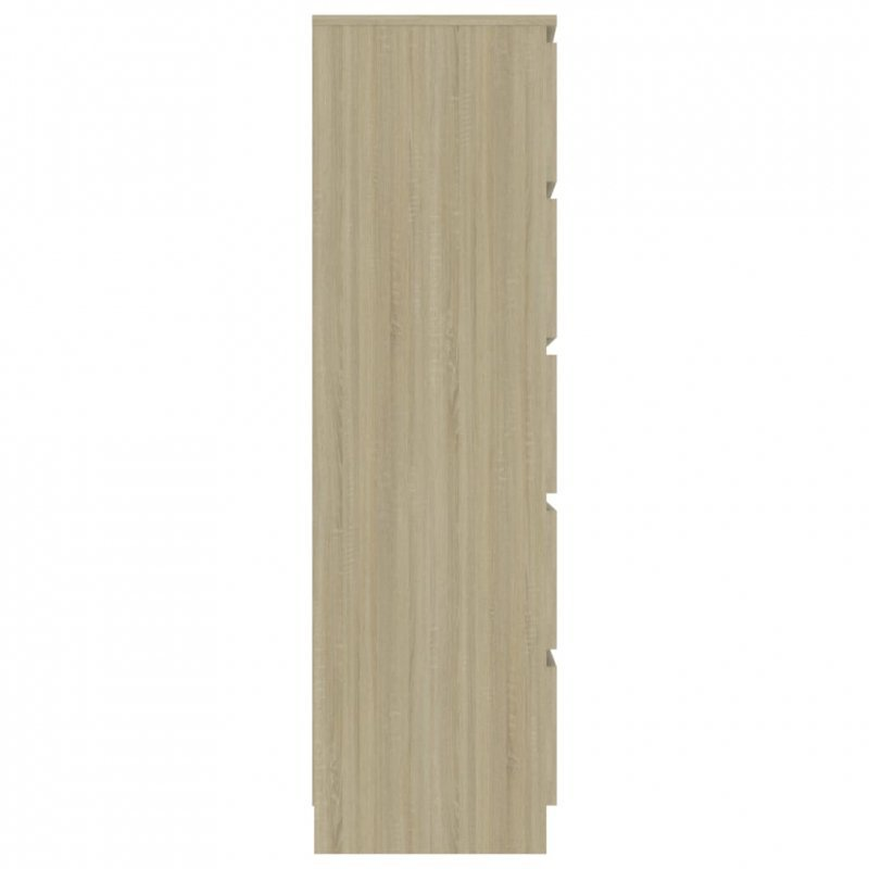 Komoda, dąb sonoma, 60x35x121 cm, płyta wiórowa