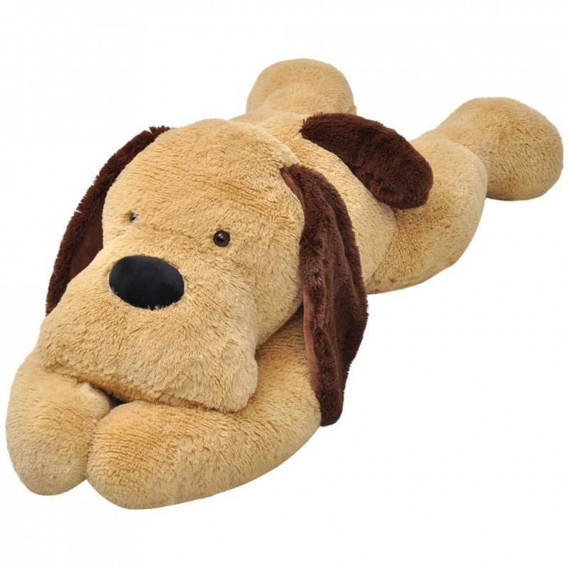 Pluszowy piesek przytulanka 80 cm, brązowy