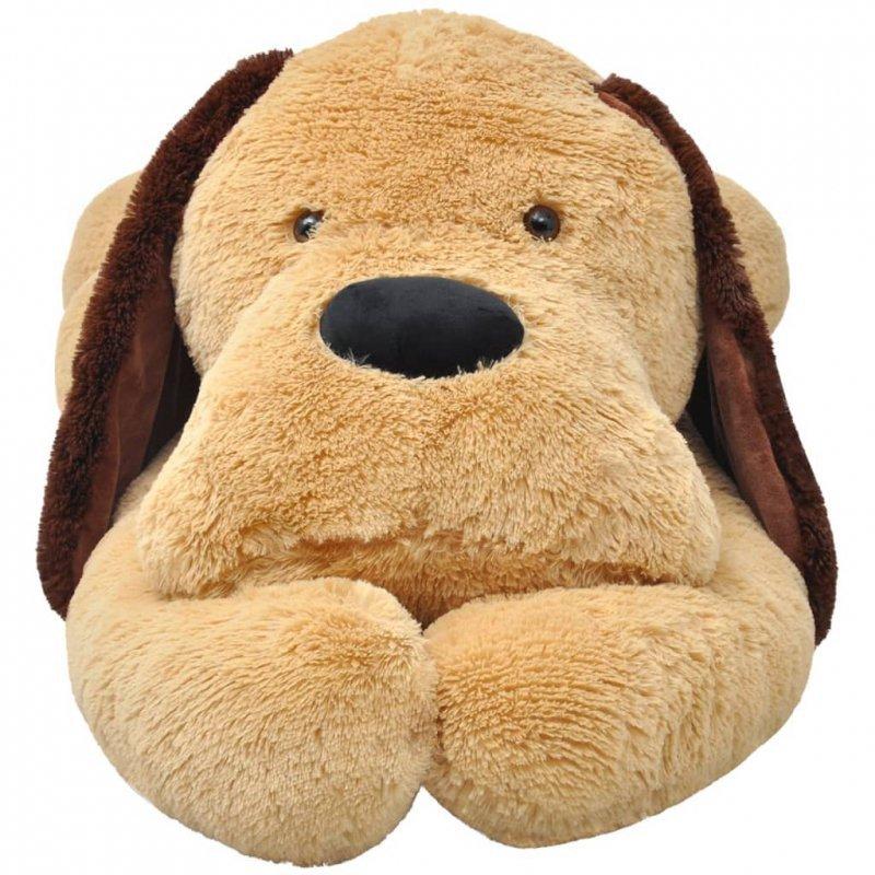 Pluszowy piesek przytulanka 120 cm, brązowy