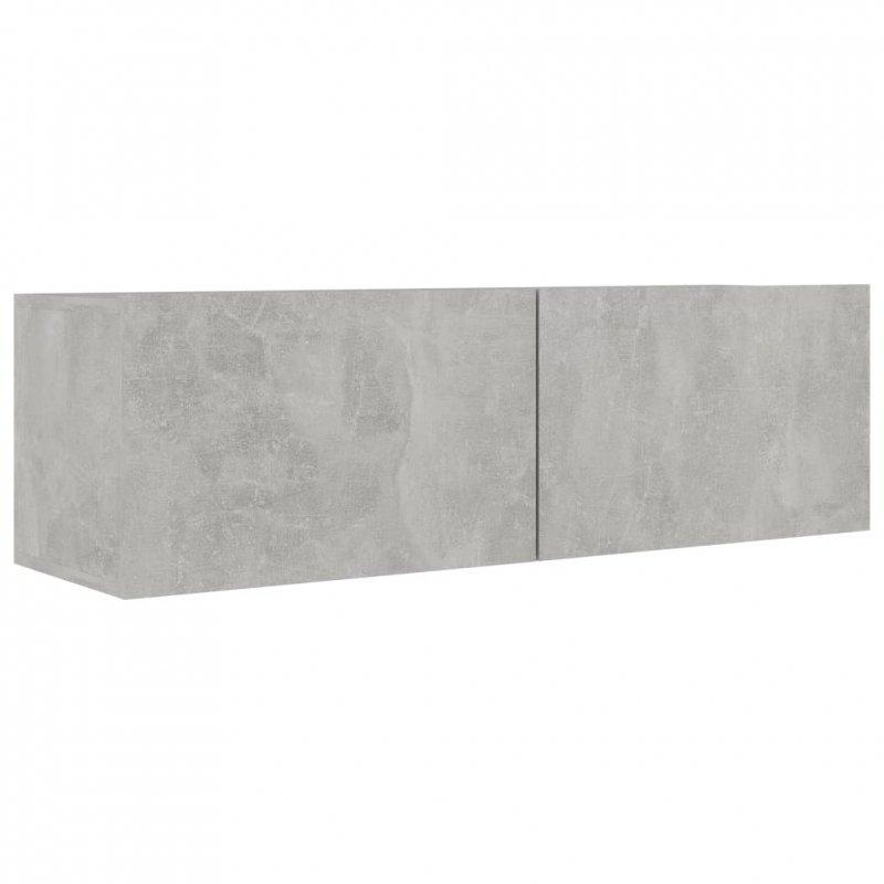 Szafka pod TV, szarość betonu, 100x30x30 cm, płyta wiórowa