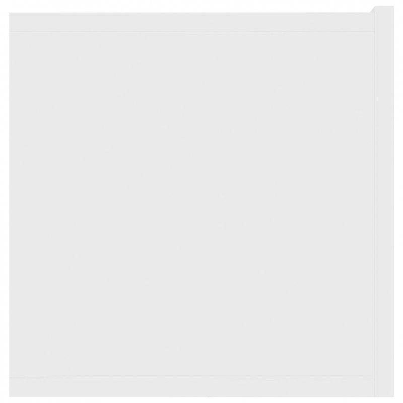 Szafka TV, biała, 120x30x30 cm, płyta wiórowa