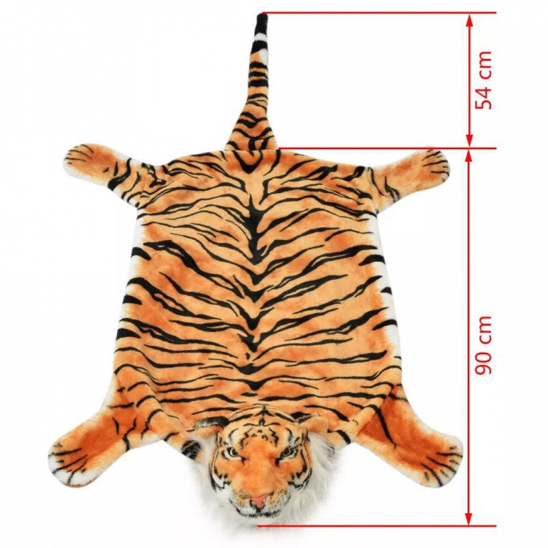 Pluszowy dywanik - tygrys, 144 cm, brązowy