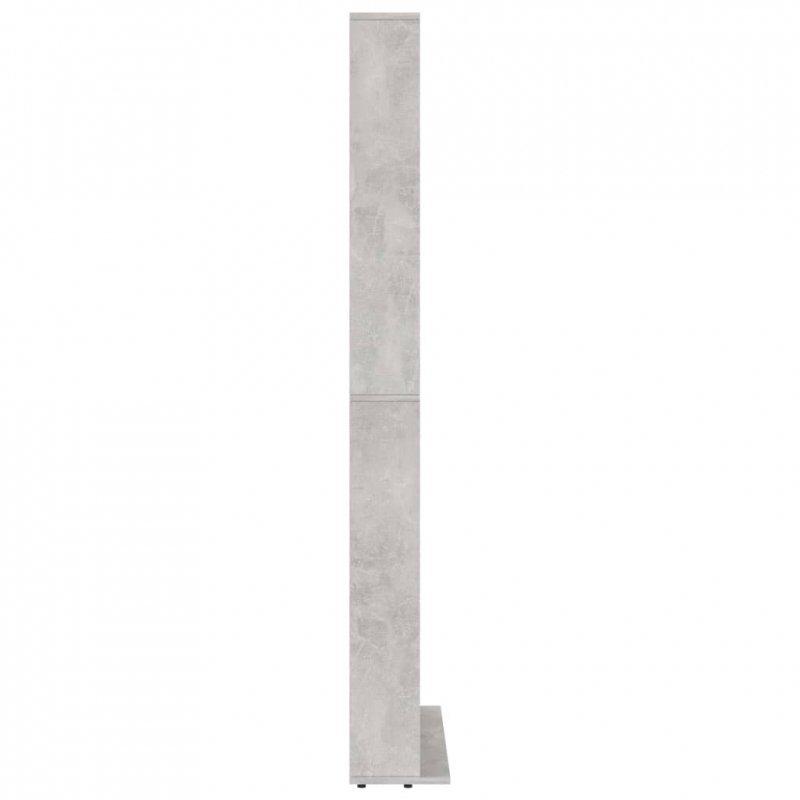 Szafka na płyty CD, szarość betonu, 102x23x177,5 cm, płyta