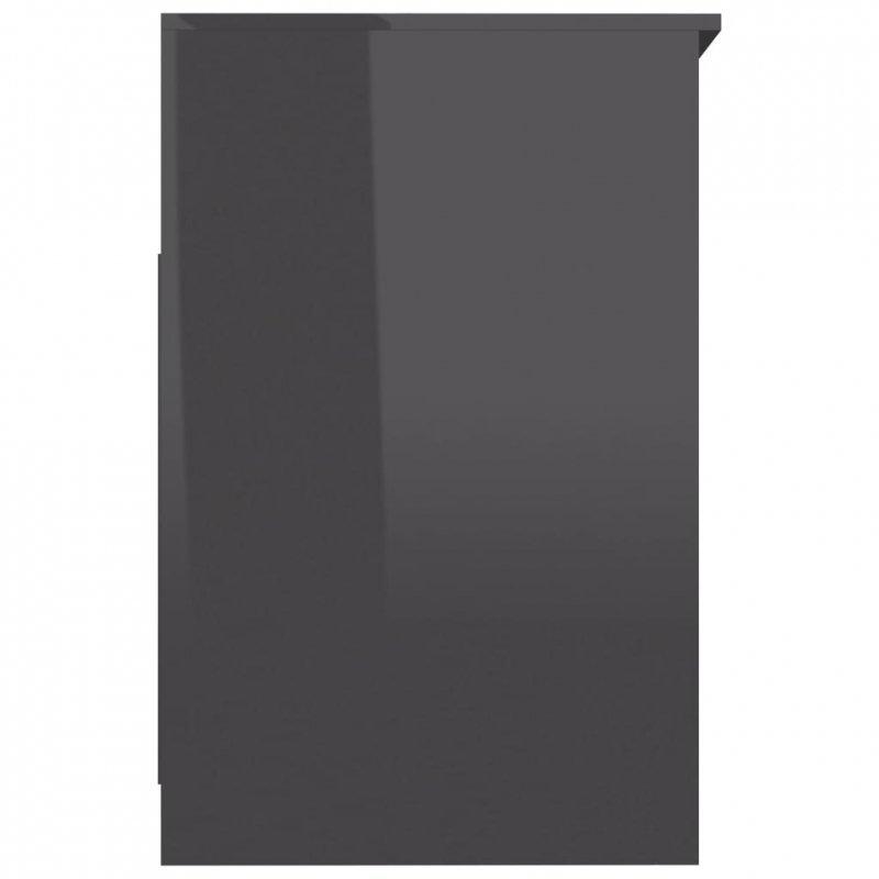 Komoda, szara na wysoki połysk, 40x50x76 cm, płyta wiórowa
