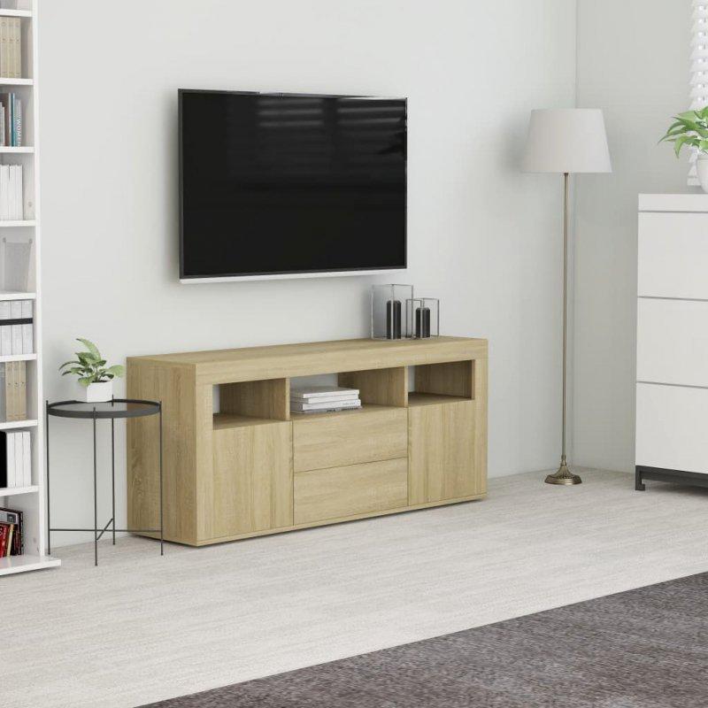 Szafka pod TV, dąb sonoma, 120x30x50 cm, płyta wiórowa