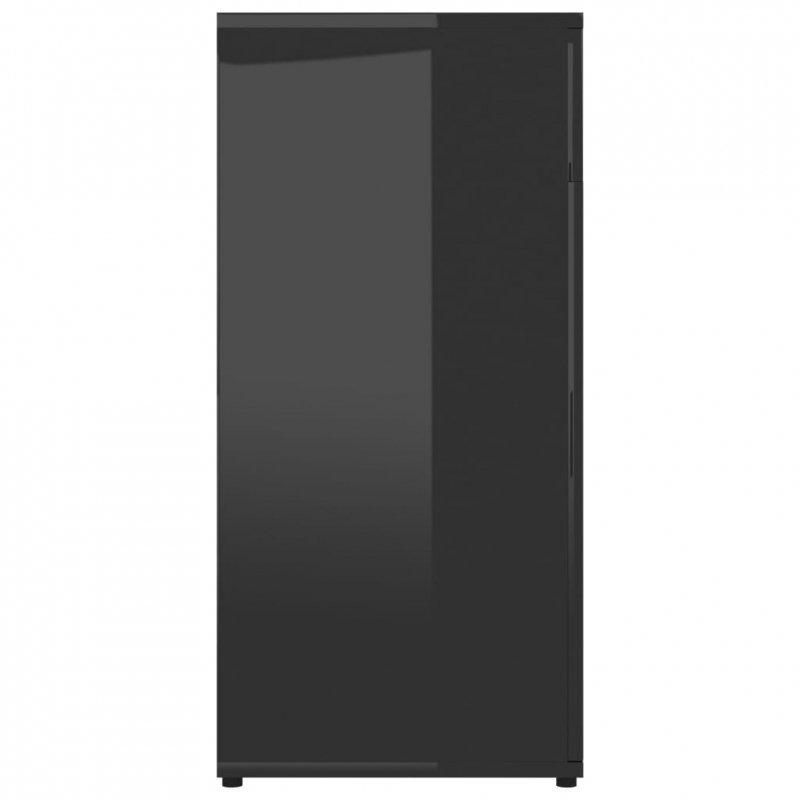 Szafka na wysoki połysk, czarna, 80x36x75 cm, płyta wiórowa