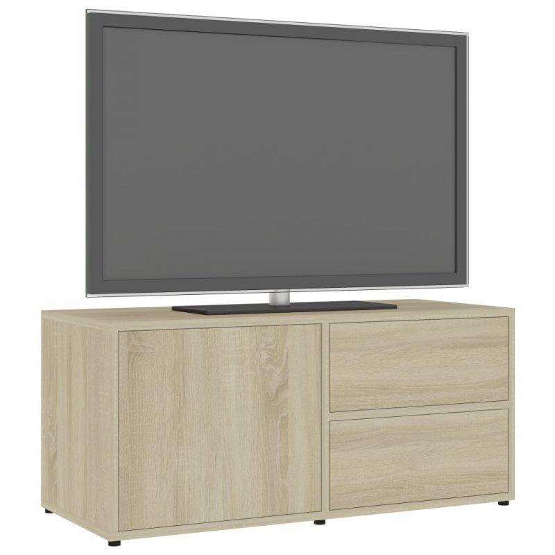 Szafka pod TV, dąb sonoma, 80x34x36 cm, płyta wiórowa