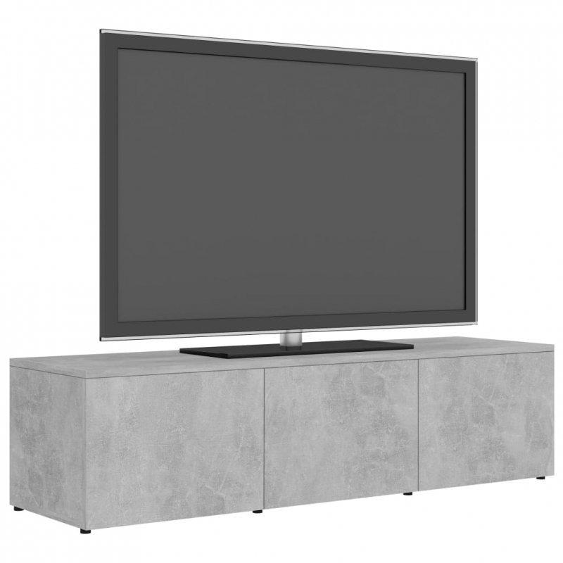 Szafka pod TV, szarość betonu, 120x34x30 cm, płyta wiórowa