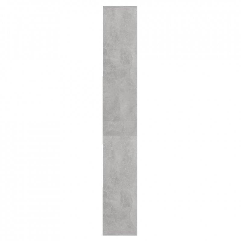 Regał na książki, szarość betonu, 67x24x161 cm, płyta wiórowa