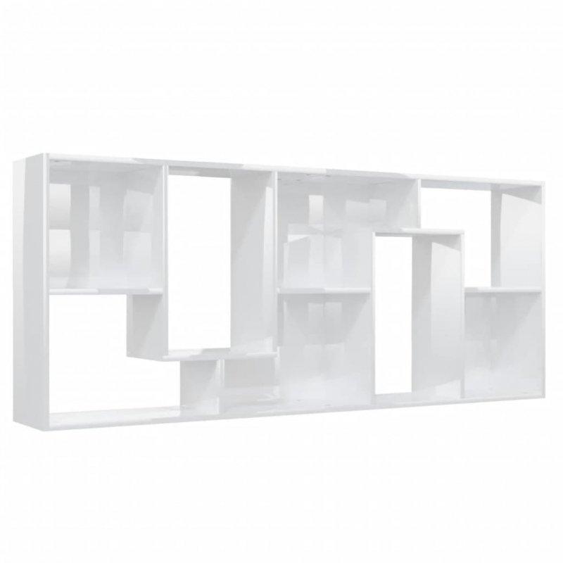 Regał, wysoki połysk, biały, 67x24x161 cm, płyta wiórowa