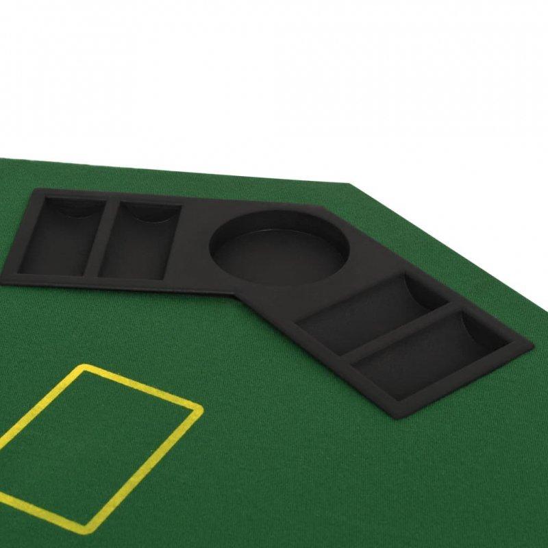 Składany blat do pokera dla 8 graczy, ośmiokątny, zielony