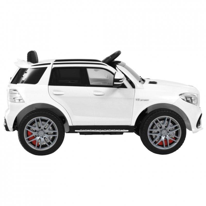 Samochód dla dzieci Mercedes Benz GLE63S, plastikowy, biały