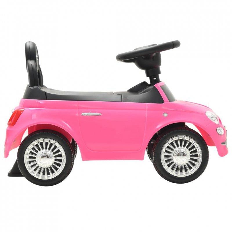Samochód jeździk Fiat 500, różowy