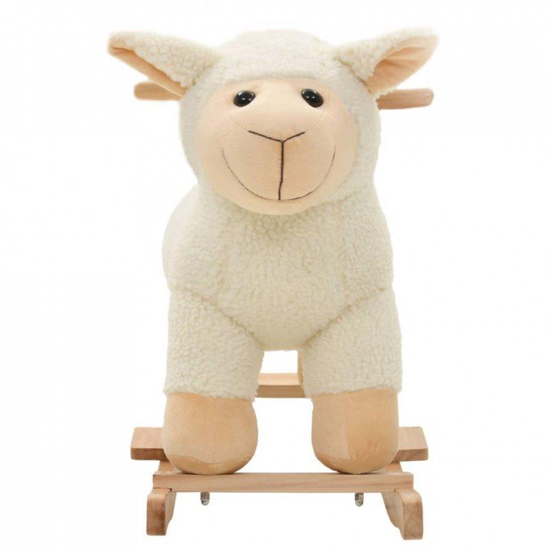 Owca na biegunach, pluszowa, 78 x 34 x 58 cm, biała