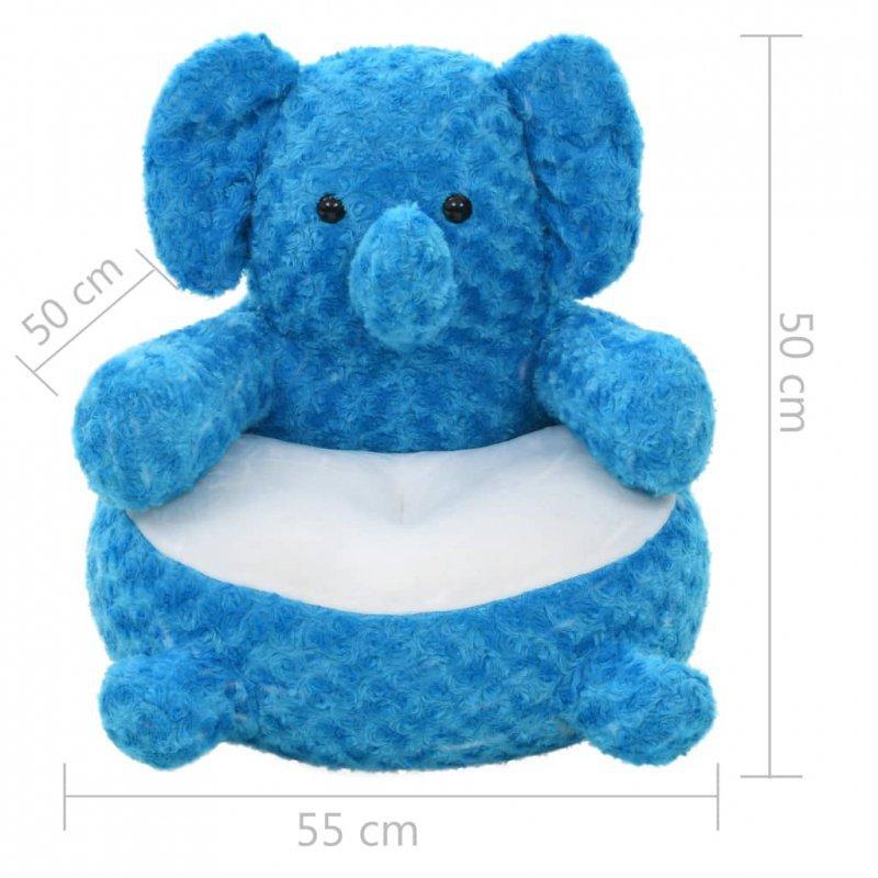 Pluszowy słoń przytulanka, niebieski