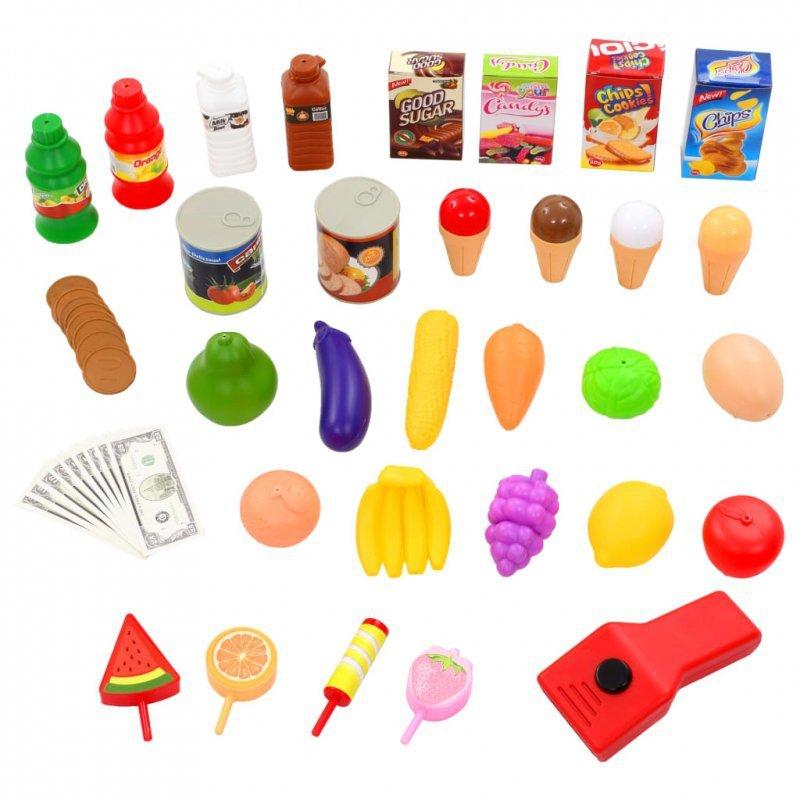51-częściowy zestaw do zabawy w sklep, 68 x 25 x 67,5 cm