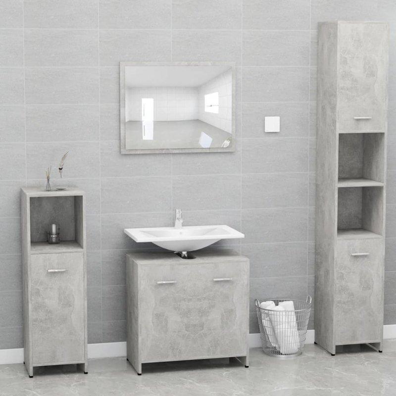 Szafka łazienkowa, szarość betonu, 60x33x58 cm, płyta wiórowa
