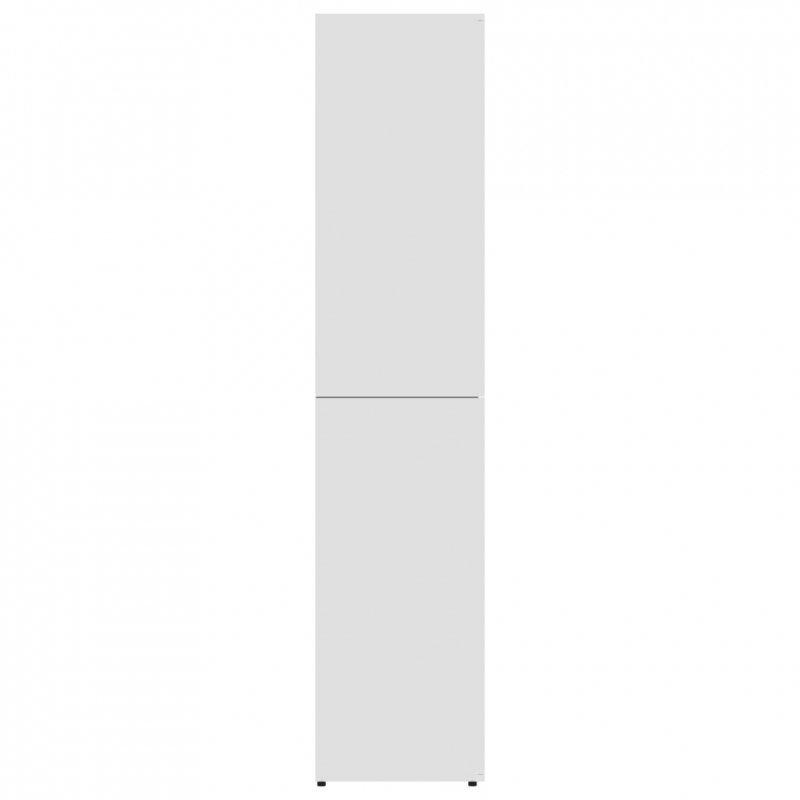 Szafka na buty, biała, 80x39x178 cm, płyta wiórowa