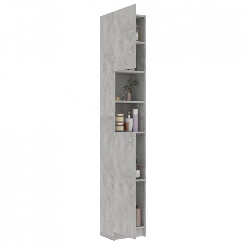Szafka łazienkowa, szarość betonu 32x25,5x190 cm, płyta wiórowa