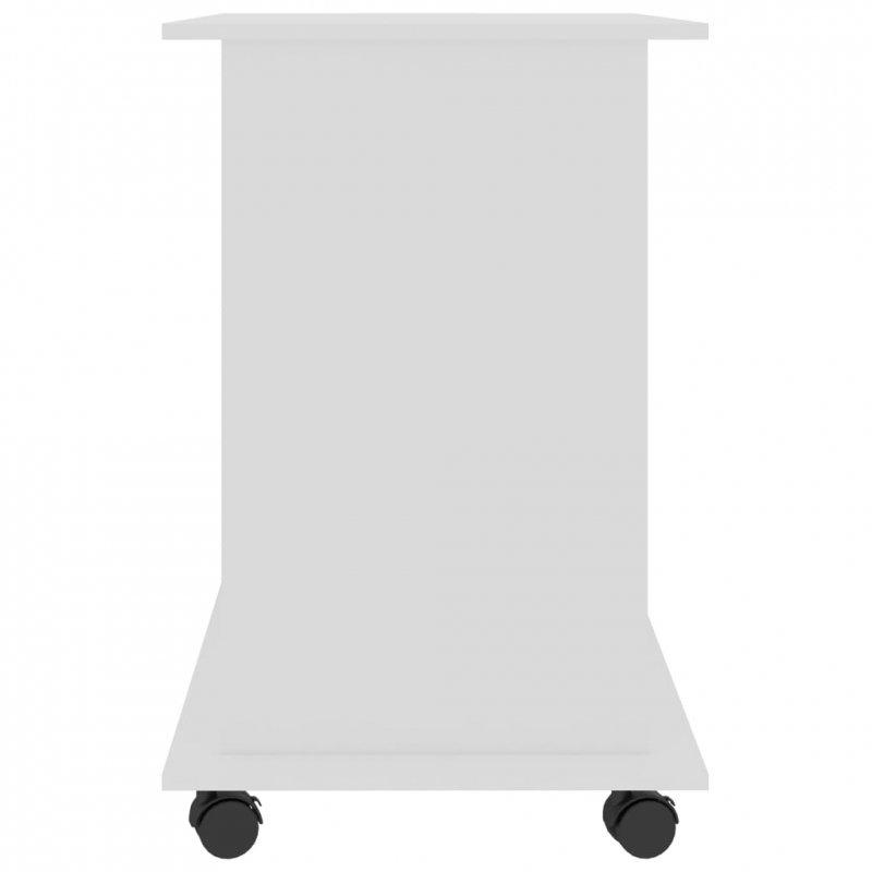 Biurko komputerowe, białe, 80x50x75 cm, płyta wiórowa