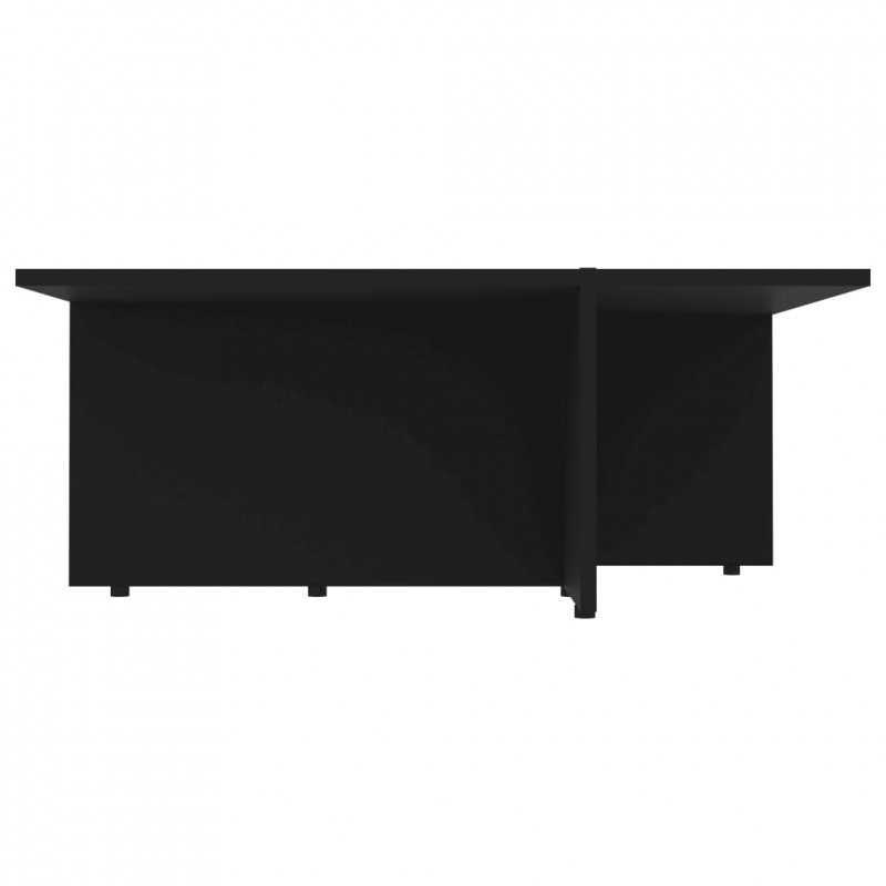 Stolik kawowy, czarny, 79,5x79,5x30 cm, płyta wiórowa