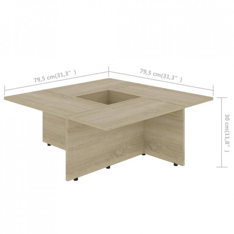 Stolik kawowy, dąb sonoma, 79,5x79,5x30 cm