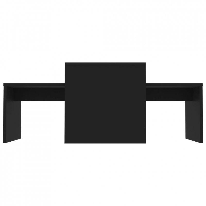 Stolik kawowy, czarny, 100x48x40 cm, płyta wiórowa