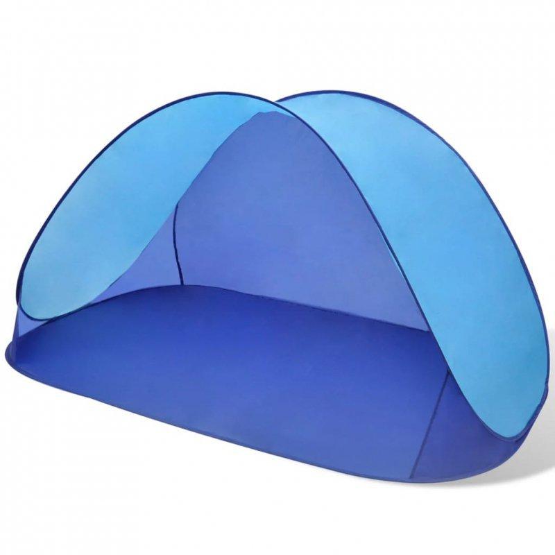 Składany namiot plażowy wodoodporny jasnoniebieski