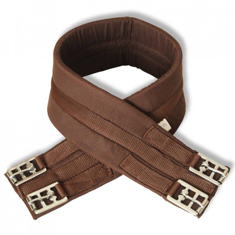 """Zestaw do osiodłania konia 17,5"""" z naturalnej skóry brązowy 12 cm 5w1"""