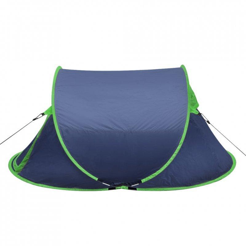 Namiot typu pop-up, 2-osobowy, granatowy/zielony