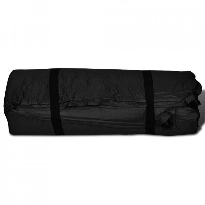 Mata samopompująca, podwójna, 190 x 130 x 4 cm, czarna