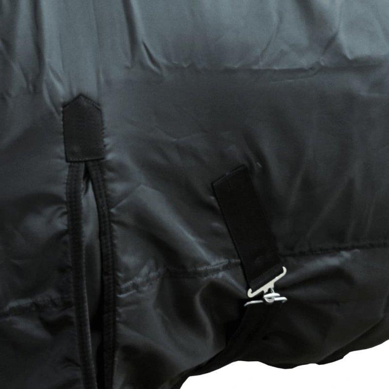 Dwuwarstwowy polarowy koc dla konia 165 cm Czarny