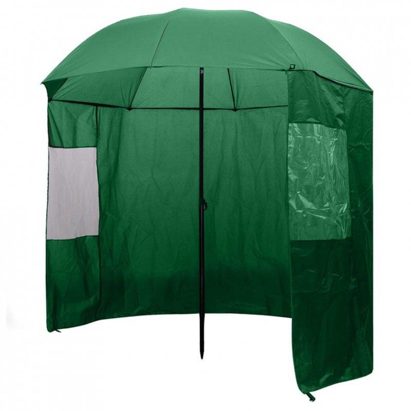 Parasol wędkarski / na ryby zielony, 240x210 cm
