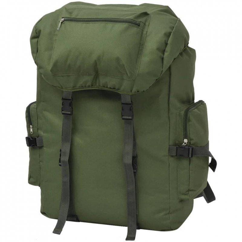 Plecak w wojskowym stylu, 65 L, zielony