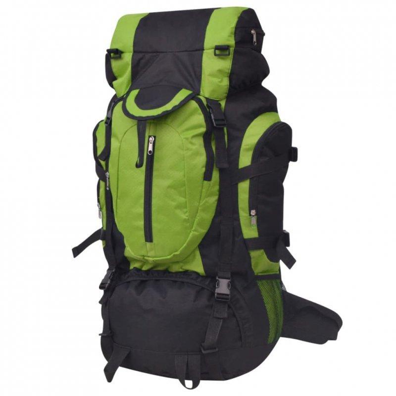 Plecak turystyczny XXL 75 L, czarno-zielony
