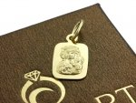 Medalik Matka Boska blaszka gładka złoto 585 14cT