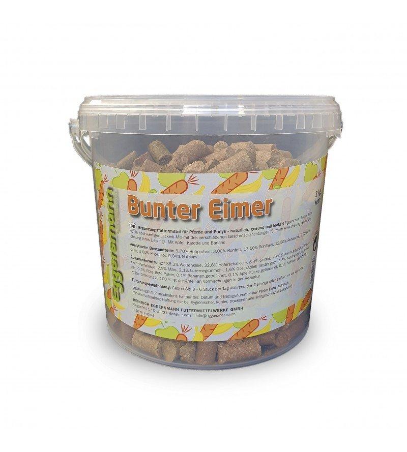 Lecker Bricks Bunter Eimer- Przysmaki w 3 smakach 3kg  Eggersmann