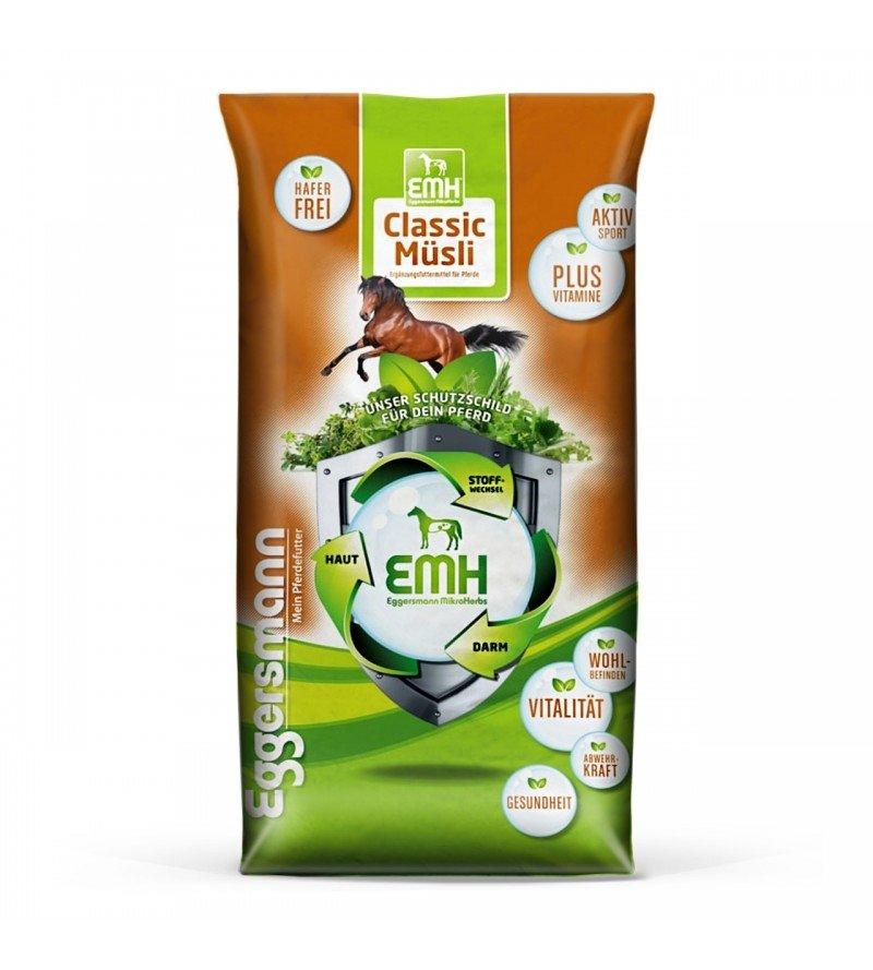 EMH Classic Musli - lekkostrawne musli dla koni sportowych na każdym poziomie pracy 20 kg  Eggersmann