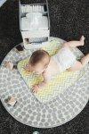 Przenośny organizer na akcesoria niemowlęce z matą do przewijania, Choc Chip