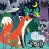 Puzzle magnetyczne Noc i dzień w lesie