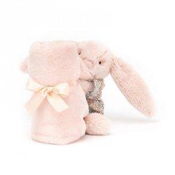 Szmatka przytulanka królik w ubranku 34 cm