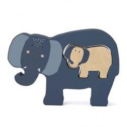 Drewniane puzzle Mrs Elephant